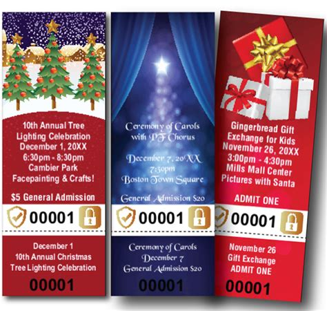 diy secure christmas tickets