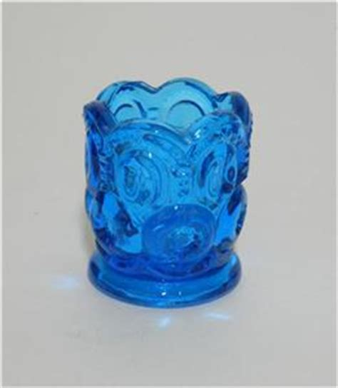 Blue Glass L by Vintage L E Smith Moon Blue Glass Toothpick
