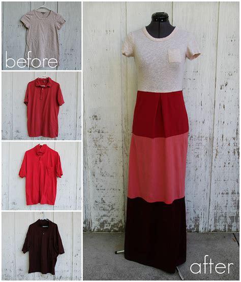 how to make a diy dress from a mans dress shirt fashion colorblock t shirt dress diy alldaychic