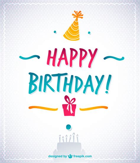descargar imagenes de happy birthday gratis feliz cumplea 241 os vector con texto descargar vectores gratis