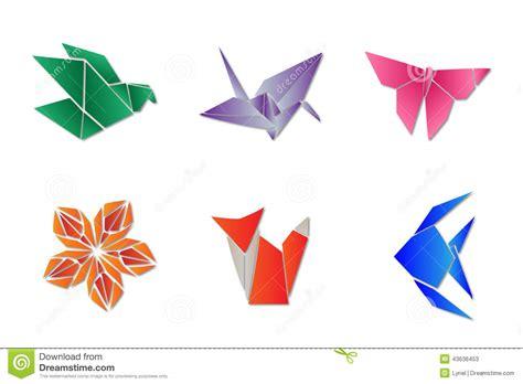 Origami Set - origami set stock vector image 43636453