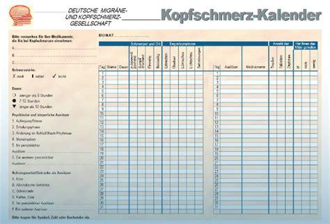 migraene kalender zum ausdrucken kalender