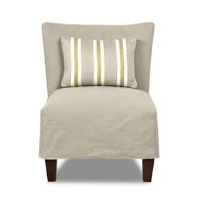 accent chair slipcover klaussner chairs and accents armless accent chair with