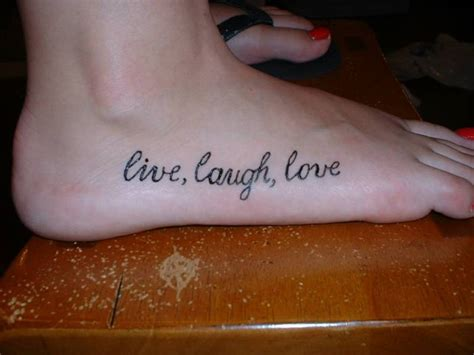 love tattoo on foot live laugh love tattoos designs ideas and meaning