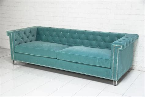 Boca Tufted Aqua Velvet Sofa I Roomservicestore Aqua Tufted Sofa