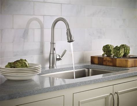 moen motionsense kitchen faucets moen 7185esrs brantford with motionsense single handle