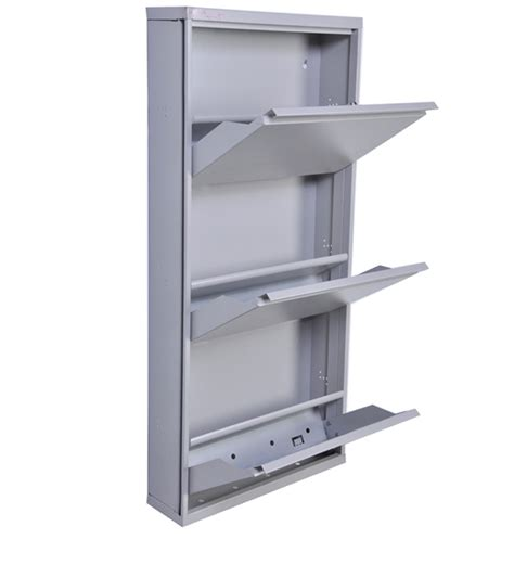 Principles Of Kitchen Design step in shoe cabinet in moonlight grey colour by godrej