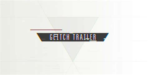 after effects free template glitch trailer cinematic glitch trailer after effects templates free