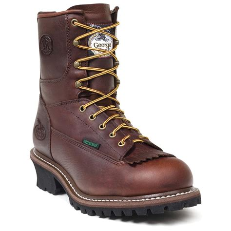 mens work boot s 174 waterproof logger boots bark 217529