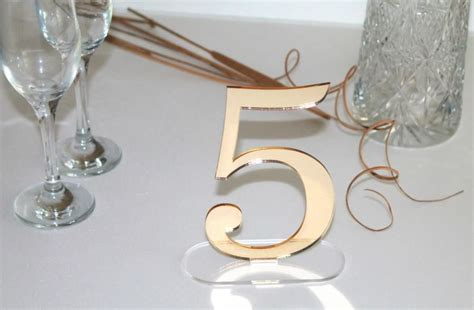 acrylic table numbers wedding gold wedding table number wedding reception laser cut