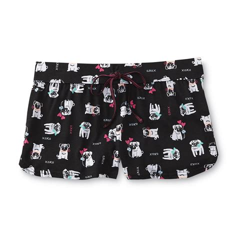 joe boxer pug pajamas joe boxer junior s pajama shorts pug clothing juniors clothing juniors pajamas