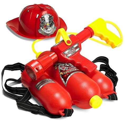 Water Gun With Backpack prextex fireman backpack water gun blaster with hat