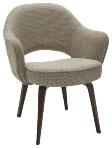 Armchair Dining saarinen arm chair with wood legs hivemodern modern