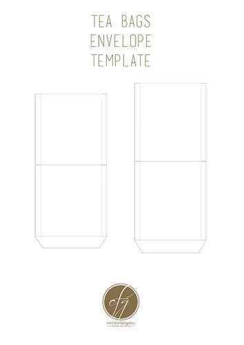 tea bag envelope template free printable tea bag envelopes envelopes template and