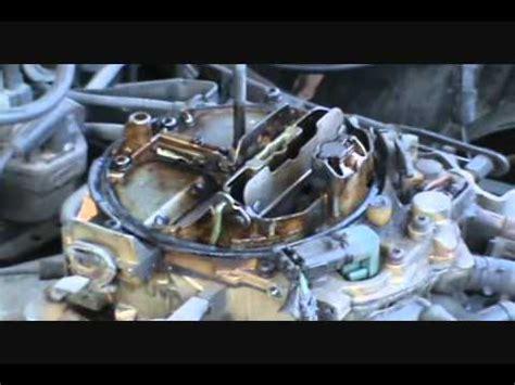 fix quadrajet carb 1987 pontiac grand prix 305 youtube