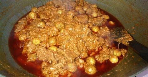 resep rendang daging kacang merah kentang oleh imelda
