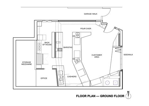 floor plan bar coffee bar kearny jones haydu archdaily