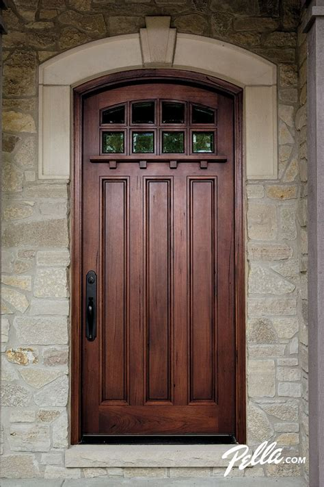 Entry Front Doors For Homes Wood Entry Doors From Pella Rustic Home Exterior Design And Doors