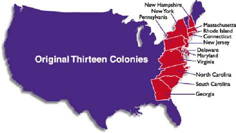 13 original colonies united states