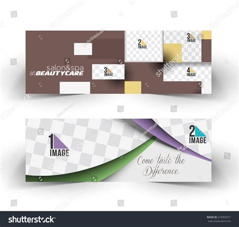 layout design for web banner web banner header layout template design stock vector