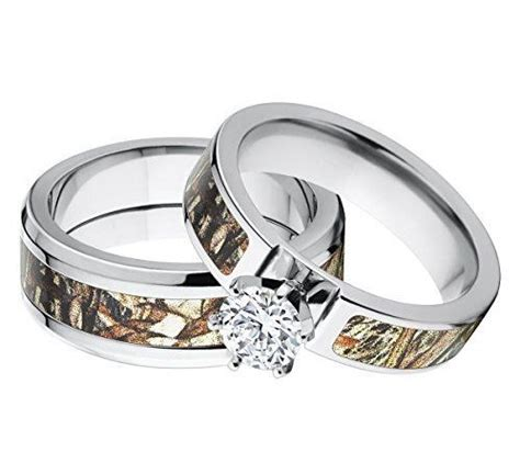 camo wedding ring sets his and hers sang maestro