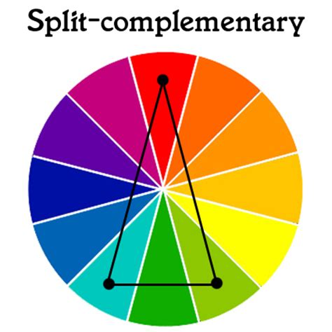 split complementary colors 28 images in color order