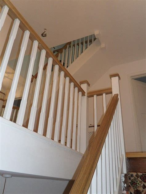 best 25 oak handrail ideas on glass stair