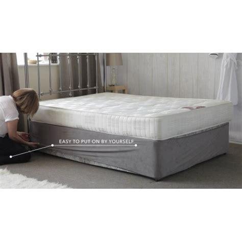 Wrap Mattress by Belledorm Divan Bed Base Wrap In Charcoal Grey