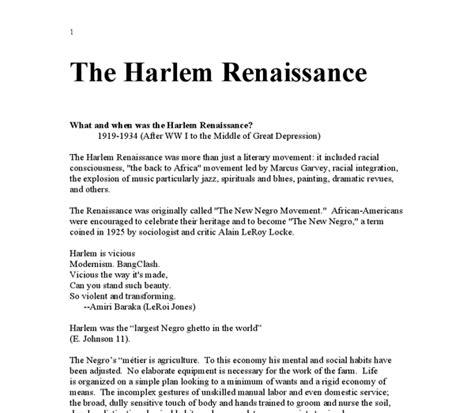 Harlem Renaissance Essay by Essay On Harlem Renaissance Renaissance Essay During Essay Harlem Renaissance Writer Cz During