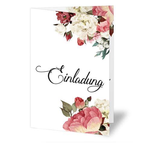 Einladungskarten Hochzeit Blumen hochzeitseinladungen mit aquarell blumenmotiv bestellen