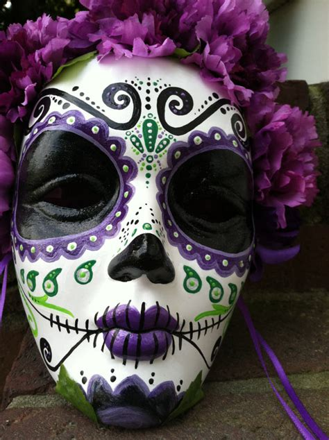 day of the dead painted decorative mask dia de by mrsmuertos dead