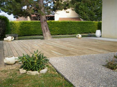 Déco Terrasse Jardin by Terrasse En Gravier Excellent Dcoration Terrasse De