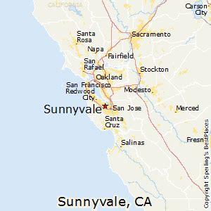 where is sunnyvale california on a map best places to live in sunnyvale california