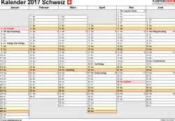 Kalender 2018 Schweiz Luzern Kalender 2017 Schweiz In Excel Zum Ausdrucken