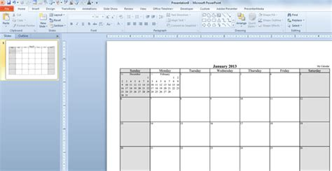 how to create powerpoint template 2013 make your free calendar 2013 template in powerpoint