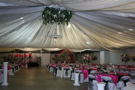 Diy Ceiling Draping by Diy Ceiling Draping At Local Fairgrounds Weddingbee