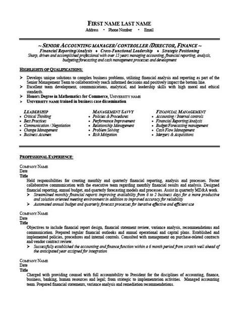 resume format for senior accounts executive senior accounting manager resume template premium resume