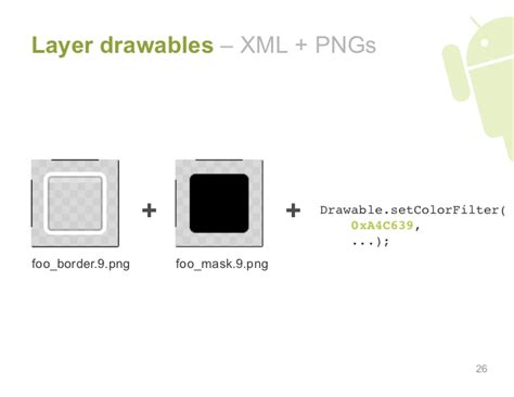 android xml layout best practices layer drawables xml