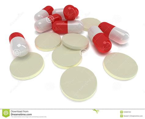 download medical pills tablets and capsules on white and pale of medical pills tablets 3d stock illustration