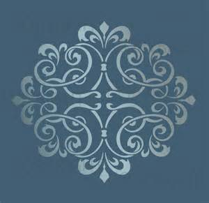 wall stencil template large wall damask stencil pattern faux mural 1012 ebay