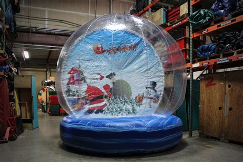 giant inflatable walk  snow globe rental national event pros
