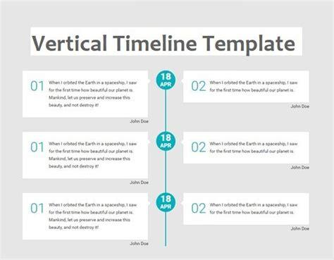 vertical timeline template   printable  excel word templates printable