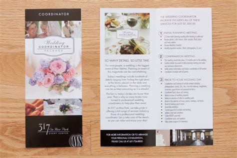 Wedding Menu Brochure by Smitty S Workshop 187 Wildside Catering Rack Brochures