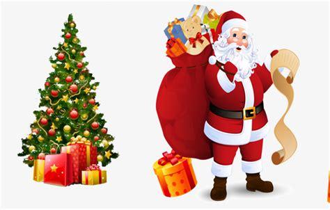 arboles de naviadad con santa clous santa claus dando regalos santa claus arbol de navidad regalo archivo png y psd para descargar