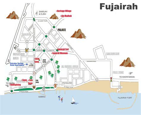 resort fujairah map fujairah tourist map