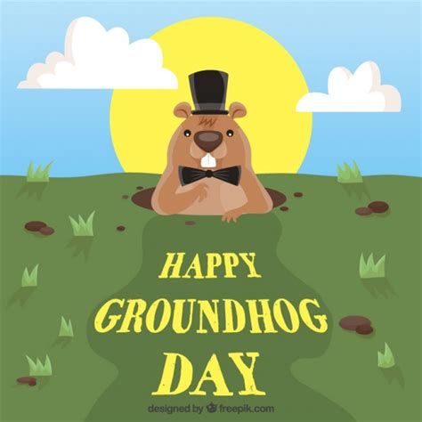 groundhog day free happy groundhog day background vector free