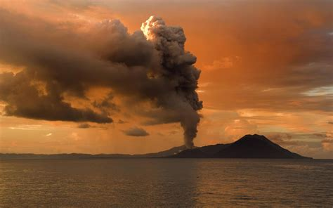 fantastic hd volcano smoke wallpapers