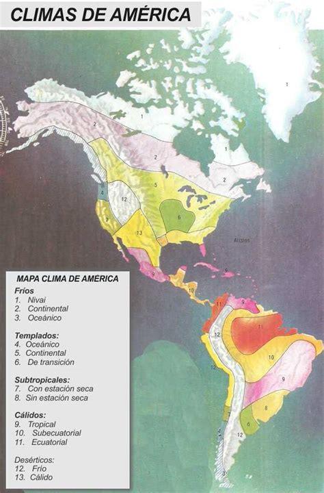 america mapa de climas climas continente americano mapa climas de america