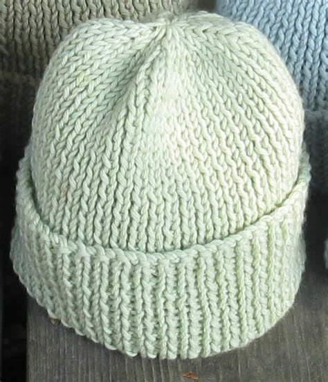 Free Knitting Pattern For Mens Ribbed Hat