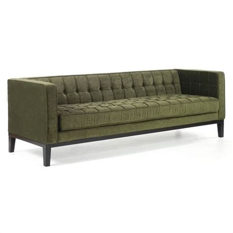 Armen Living Roxbury Tufted Fabric Sofa In Green Lc10103gr